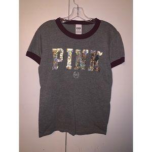 PINK sequin tshirt